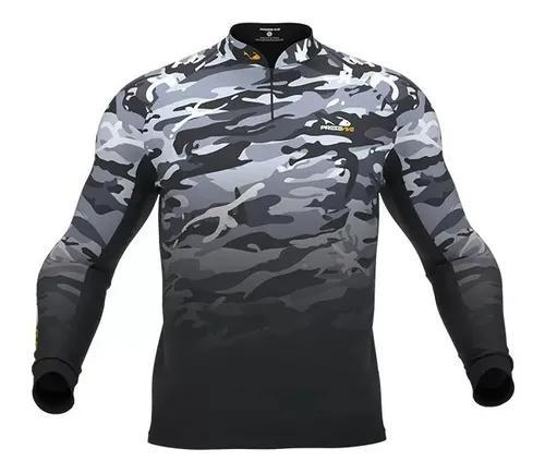Camisa, camiseta, blusa de pesca presa viva camuflada
