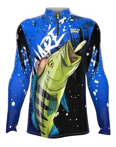 Camiseta p pesca proteção solar dry fit blusa roupa de