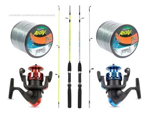 Kit 2 varas albatroz e 2 molinetes c/ linha preço