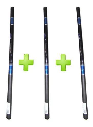 Kit 3 varas telescópica xingu top 2 - 1,80 metros tilápia