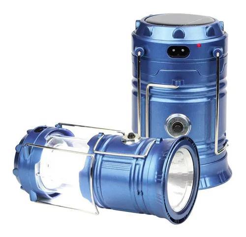 Kit 6x lampiao lanterna solar led bateria recarregavel usb