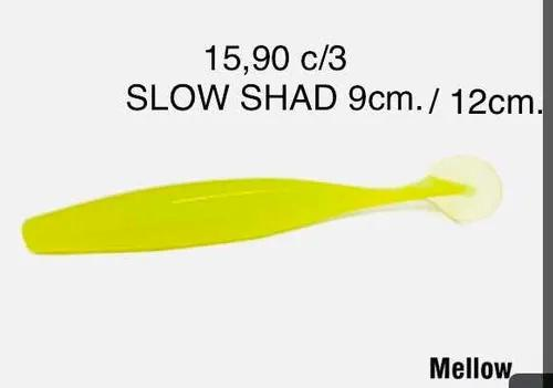 Kit c/3 pct. isca soft slow shad 12cm. monster 3x c/3 unid.