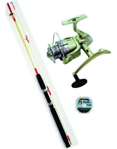 Kit vara pesca ottoni + molinete marine sports elite 4000