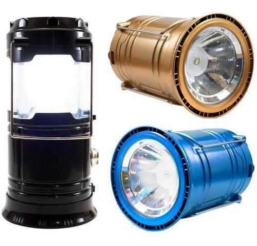 Lampião lanterna luminária carregador solar camping usb