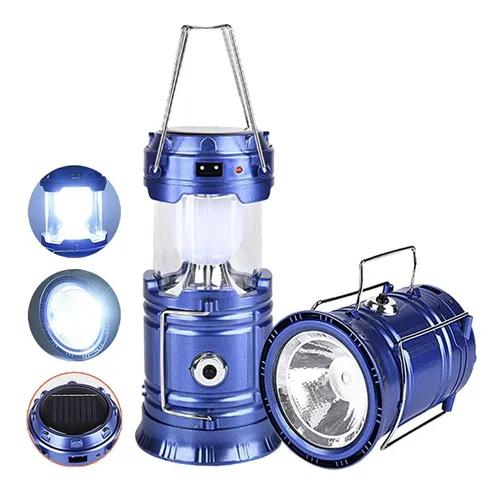 Lampião lanterna solar led luminaria recarregavel bivolt