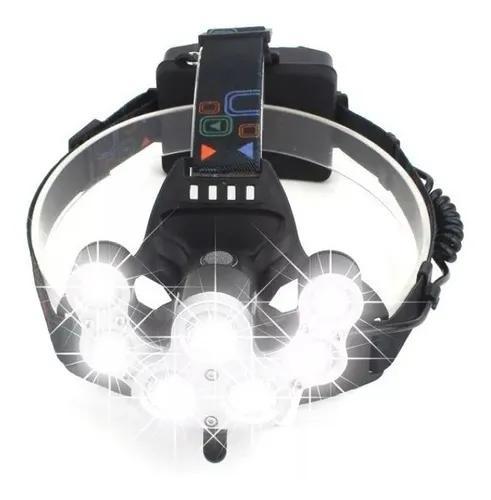 Lanterna cabeça bike 7 led xml t6 35000lm recarregavel foco