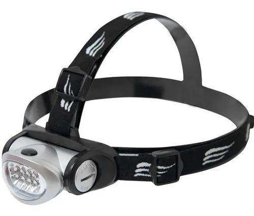 Lanterna cabeça camping turbo led 8 leds mecanico nautika