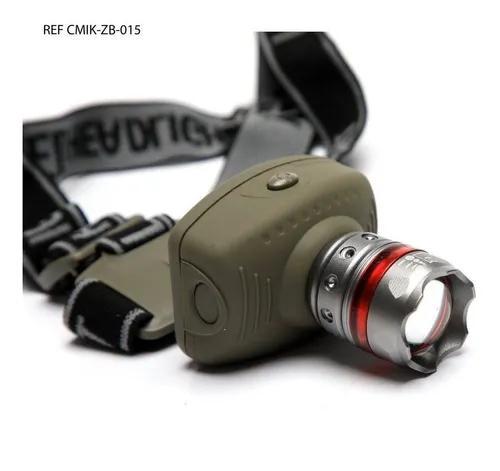 Lanterna de cabeça tática led cree zoom regulag
