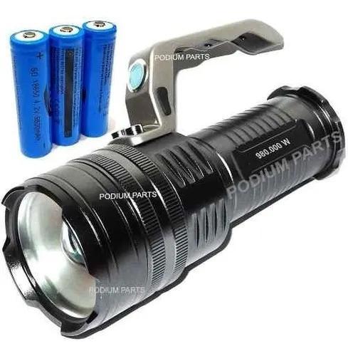 Lanterna holofote led 3000000 lumens potente melhor que x900