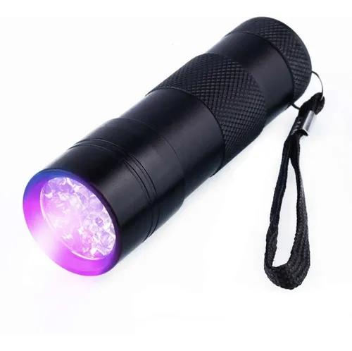 Lanterna uv led ultra violeta dinheiro falso luz negra