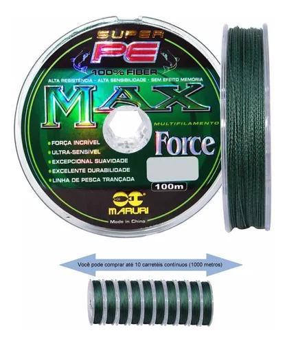 Linha multifilamento max force maruri 100 metros vários