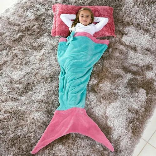 Manta saco de dormir infantil 1,40m x 60cm sereia tifany - b