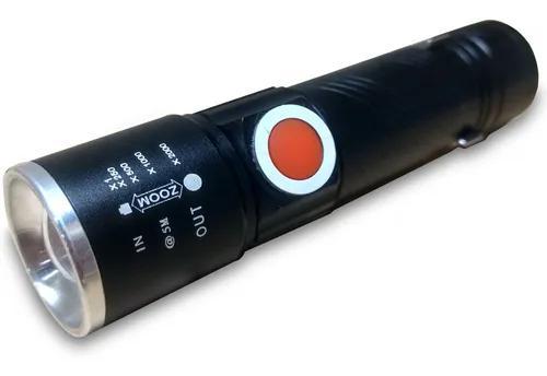 Mini lanterna de led b-max bm-8411 usb
