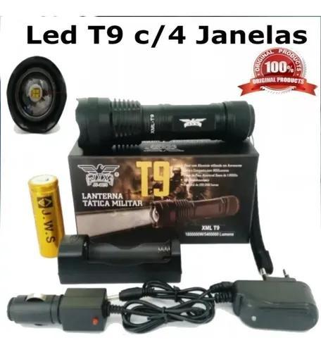 Mini lanterna tática led t9 recarregável jyx c/zoom c/ nfe