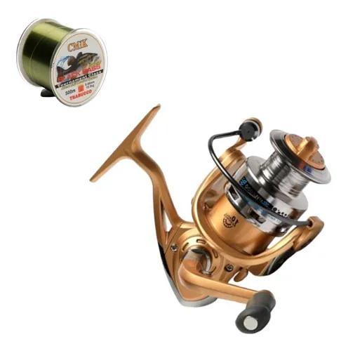 Molinete de pesca fb3000 24lbs alumínio pr