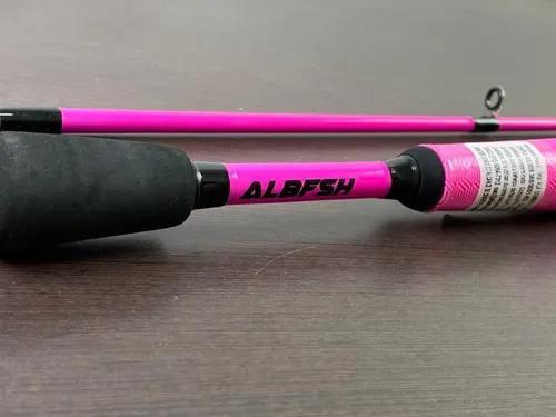 Vara de carretilha carbono topaz rosa 1,68m albatroz