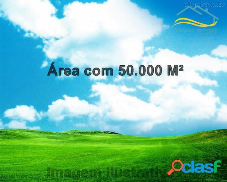 Área em caraguatatuba com 50.000 m²,limpa sem arvores.