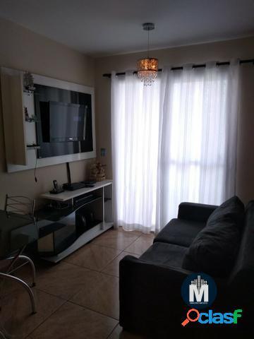 Apartamento de 48m² com 2 dormitórios, sala com sacada, 1 vaga - osasco sp