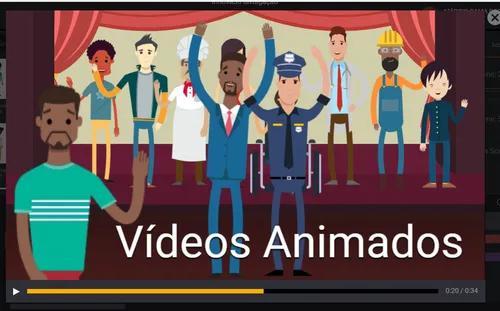 Animação com locução, animação e música 30 à 90 seg