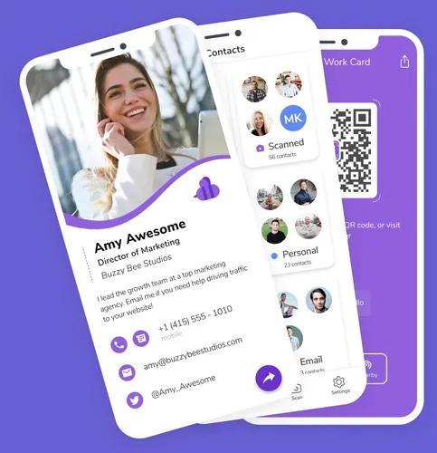 Cartão de visitas digital interativo