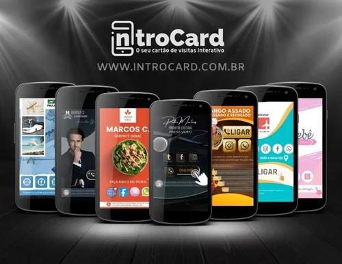 Cartão interativo digital introcard