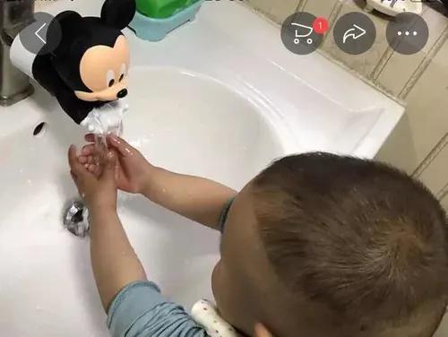 Extensor de torneira poupança água ajuda crianças lavar