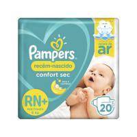 Fralda pampers confort sec tam rn+