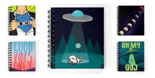Kit 5 cadernos personalizados c/ sua arte mega oferta