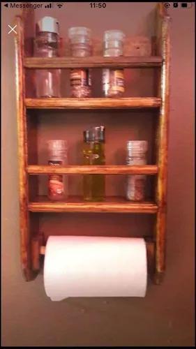 Lindo kit rústico para praticidade da sua casa