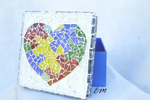 Mdf caixa mosaico