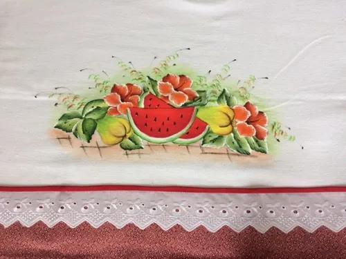 Panos de prato pintados a mão