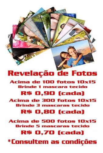 Revelação de fotos digitais tamanho 10x15 (preço