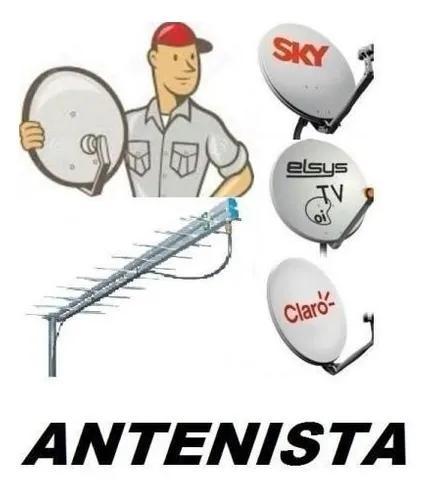 Técnico antenista instalador de antenas sky - claro tv