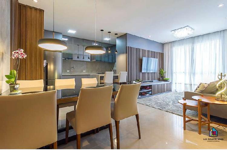 Apartamento mobiliado|decorado com 106m útil | hugo lange -