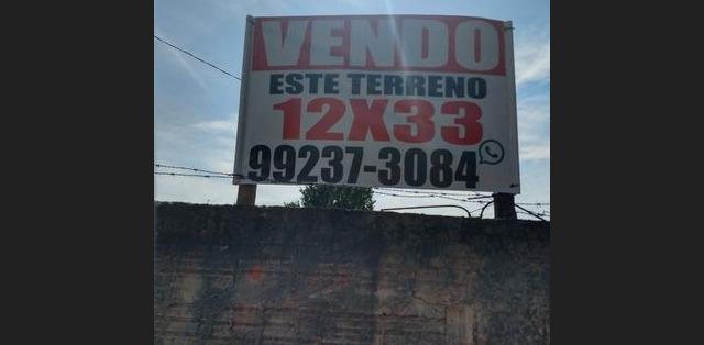 Vende-se terreno, boa localização. 396m² bairro santa