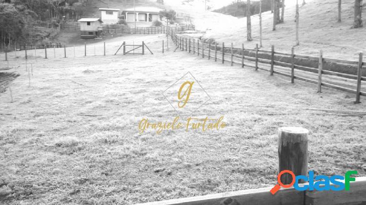 Chácara com 02 casas em localização privilegiada em rancho queimado - sc
