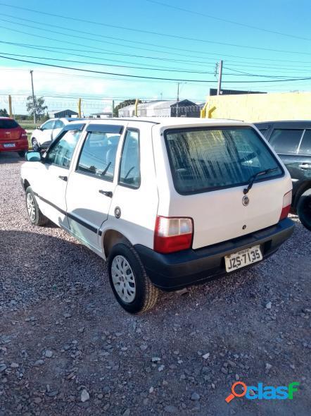Fiat uno mille mille ex smart 4p branco 2004 1.0 gasolina