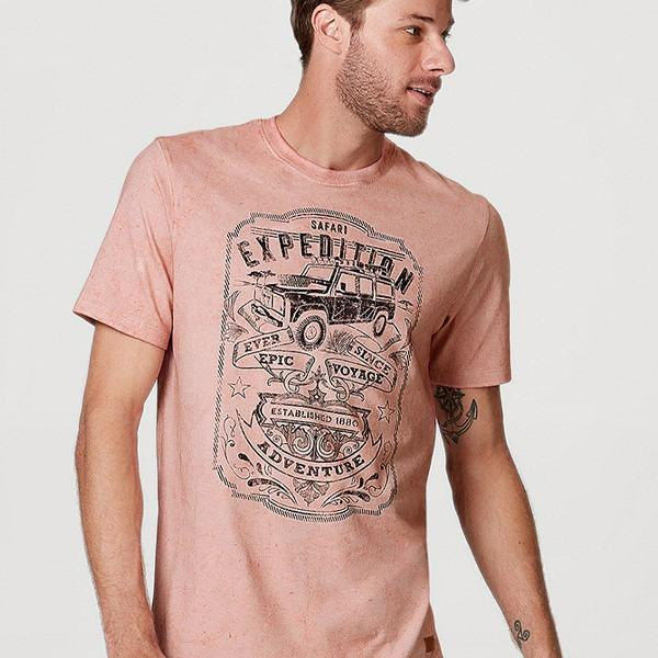 Camiseta masculina hering manga curta com estampa