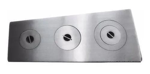 Chapa ferro fundido polida fogão campeiro 38x54x110cm