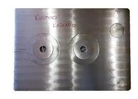Chapa ferro fundido polida fogão campeiro nº2 89x63cm