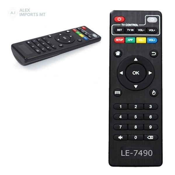 Controle remoto tv box le-7490 modelos mxq pro, mx9, mxq,