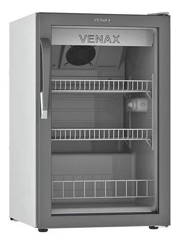 Expositora bebidas venax 82lts com led vv100 branco