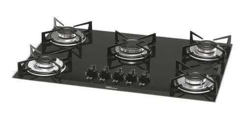 Fogão cooktop fischer 5 bocas mesa de vidro bivolt