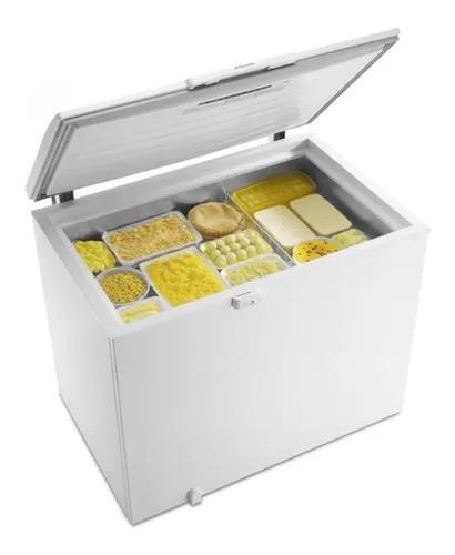 Freezer horizontal 1 porta electrolux 305 litros degelo prá