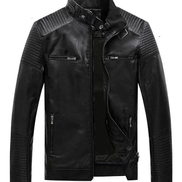 Jaqueta de couro de motoqueiro