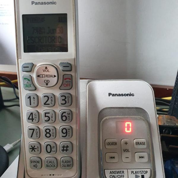 Telefone sem fio , secretaria e ramal sem fio- panasonic