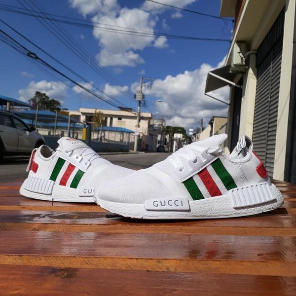 Tênis adidas nmd branco/gucci 39