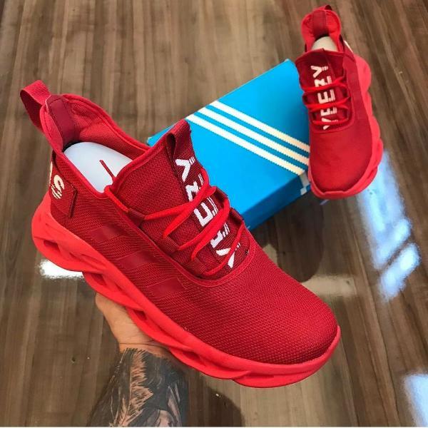Tênis adidas yeezy maverick vermelho 42