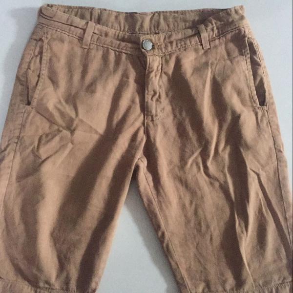 Bermuda jeans caramelo