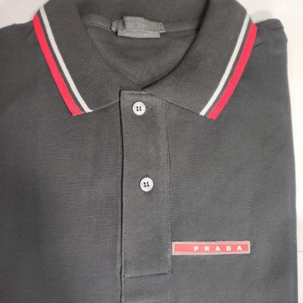 Camisa gola polo prada original made in italy